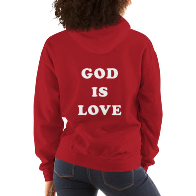 God is love (back) - Comfy Hoodie