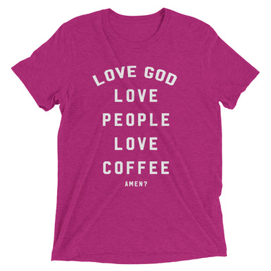 Love God, Love People, Love Coffee - Vintage Short sleeve t-shirt