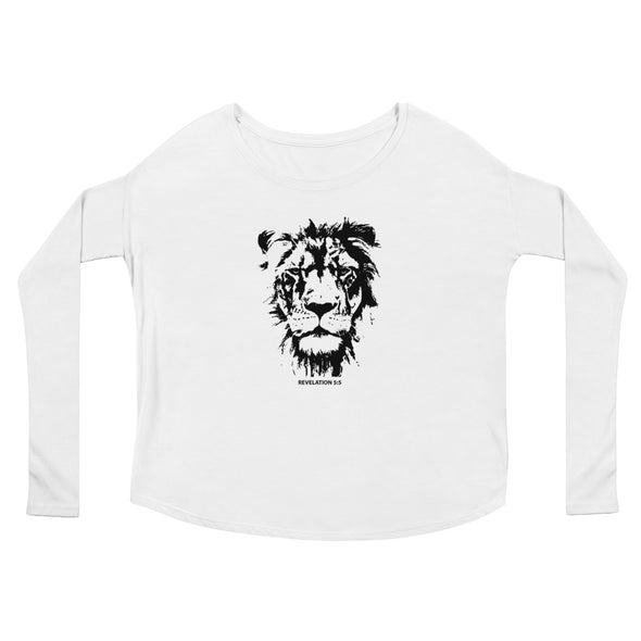 Lion of Judah - Ladies' Flowy Long Sleeve Tee