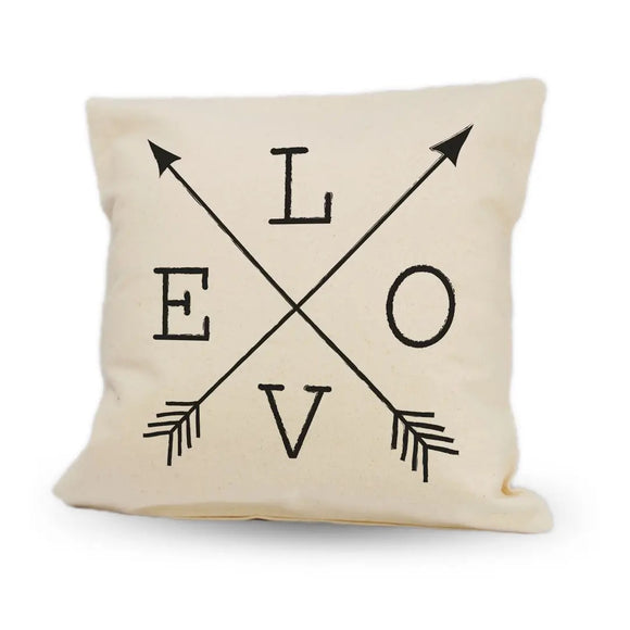 "Love with Arrows 12"" Pillow"