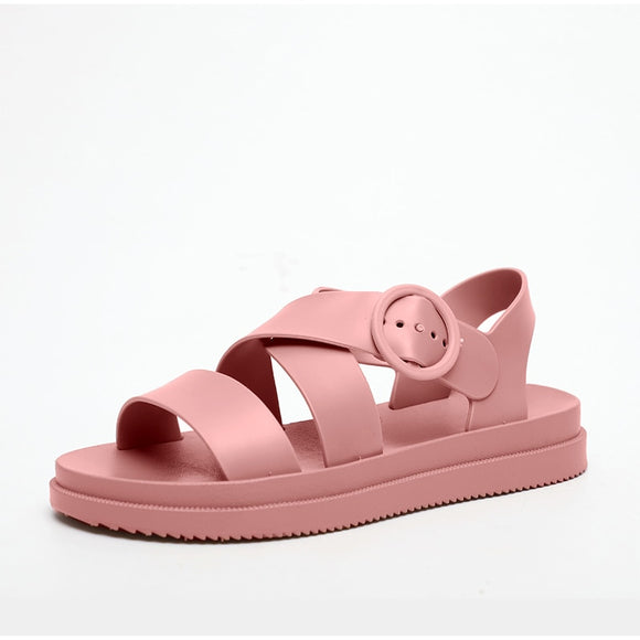 Soft Jelly Pink Beach Slippers