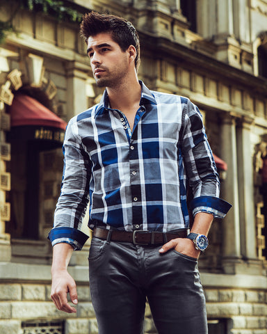 Plaid shirt for men by Au Noir