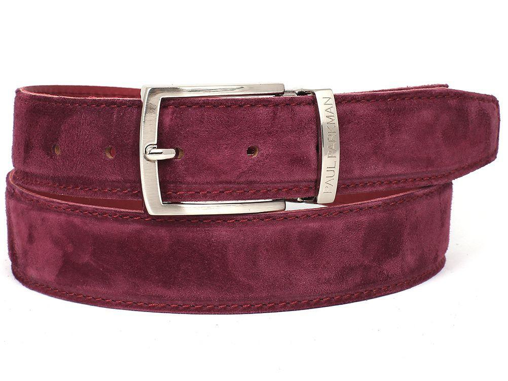 PAUL PARKMAN Men's Purple Suede Belt