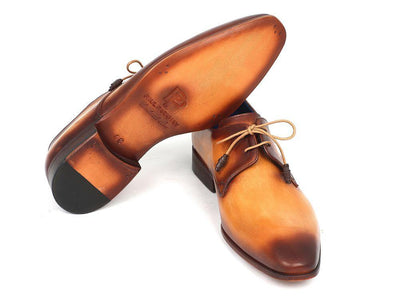 Men Fashion - Paul Parkman Brown & Camel Hand-Painted Derby Shoes
