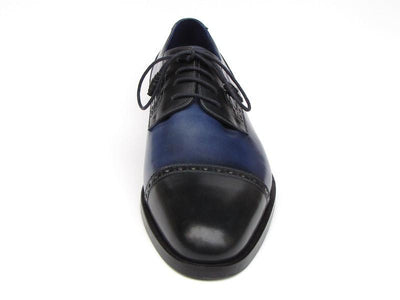 Paul Parkman Men's Parliament Blue Derby Shoes Leather Upper and Leather Sole