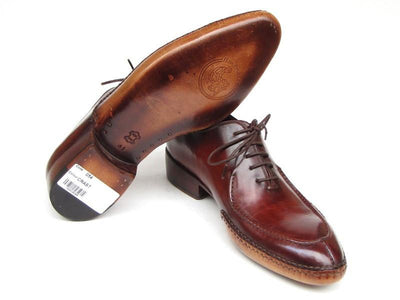 Paul Parkman Men's Side Handsewn Split-toe Burgundy Oxfords