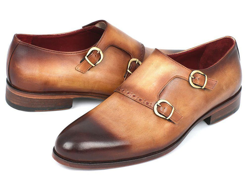 Men Fashion - Paul Parkman Two Tone Double Monkstrap Shoes