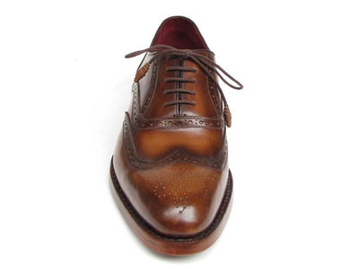 Men Fashion - Paul Parkman Men's Wingtip Oxford Goodyear Welted Tobacco
