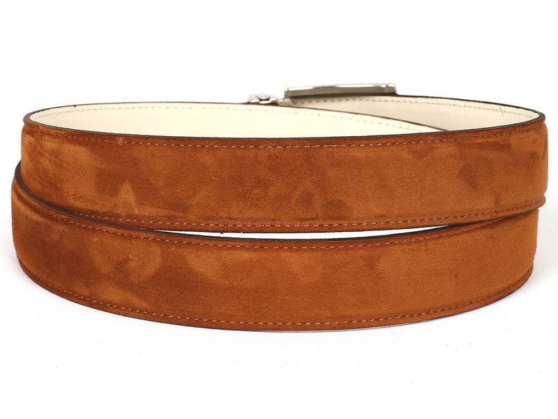 Men Fashion - PAUL PARKMAN Men's Tobacco Suede Belt