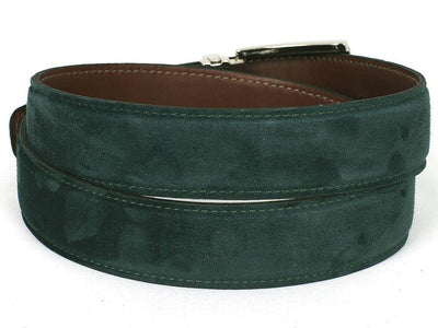 Men Fashion - PAUL PARKMAN Men's Green Suede Belt