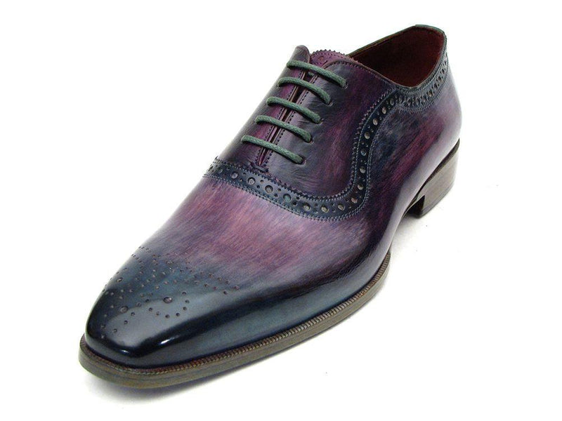 Paul Parkman Men's Purple & Navy Medallion Toe Oxfords