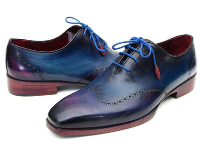 Paul Parkman Blue & Purple Wingtip Oxfords