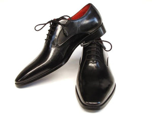 Paul Parkman Men's Black Oxfords Leather Upper and Leather Sole (ID#019-BLK)