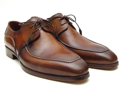 Men Fashion - Paul Parkman Men's Brown Derby Dress Shoes For Men