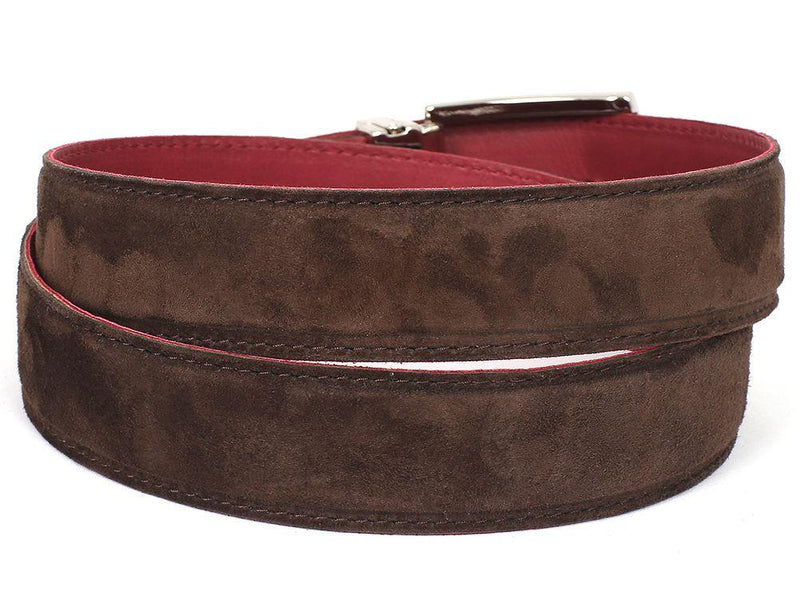 Men Fashion - PAUL PARKMAN Men's Brown Suede Belt