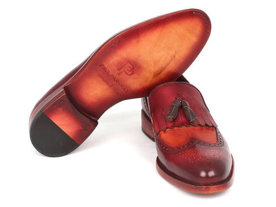 Men Fashion - Paul Parkman Kiltie Tassel Loafer Tobacco & Bordeaux