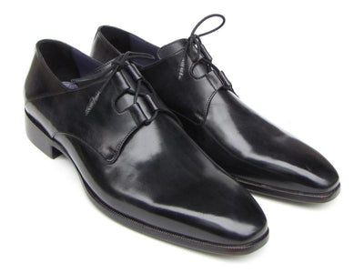 Men Fashion - Paul Parkman Men's Ghillie Lacing Plain Toe Black Shoes