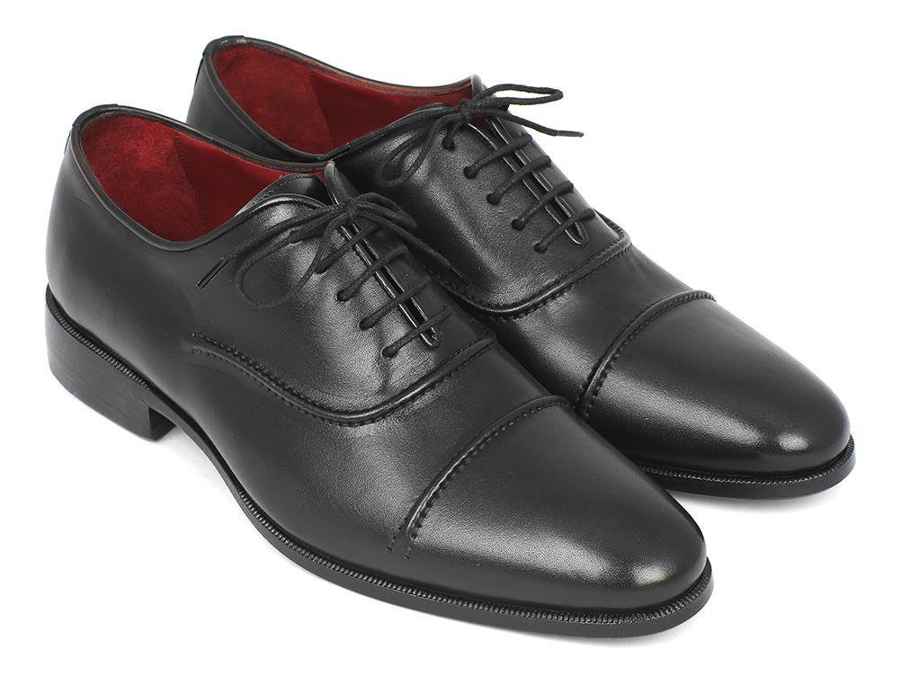 Men Fashion - Paul Parkman Men's Captoe Oxfords Black