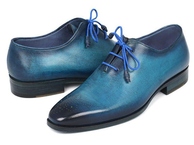 Men Fashion - Paul Parkman Men's Blue & Navy Medallion Toe Oxfords