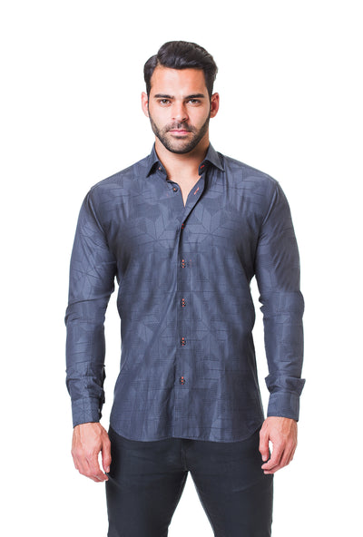 Maceoo Shirt Fibonacci Dimension Grey
