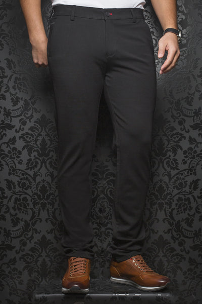Men Fashion - Au Noir Dressy Stretch Pant - Beretta Black