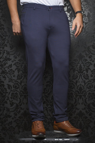 Men Fashion - Au Noir Dressy Stretch Pant - Beretta Navy
