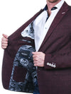 Maceoo Dark Red Blazer | Bethoven Swirl Paisley Red