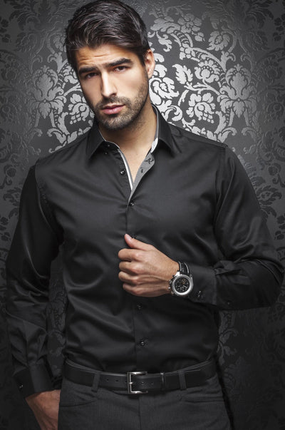 Men Fashion - Au Noir shirt - Ferre Black