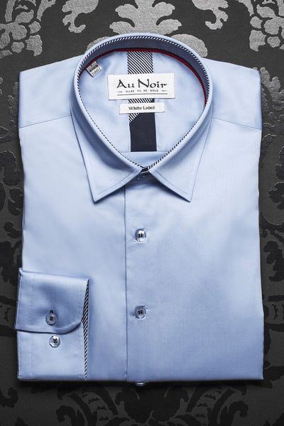 Men Fashion - Au Noir shirt - Ferre Light Blue