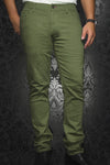 Au Noir Slim Fit Stretch Denim Jean - Olive