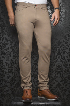 Men Fashion - Au Noir Dressy Stretch Pant - Magnum Beige