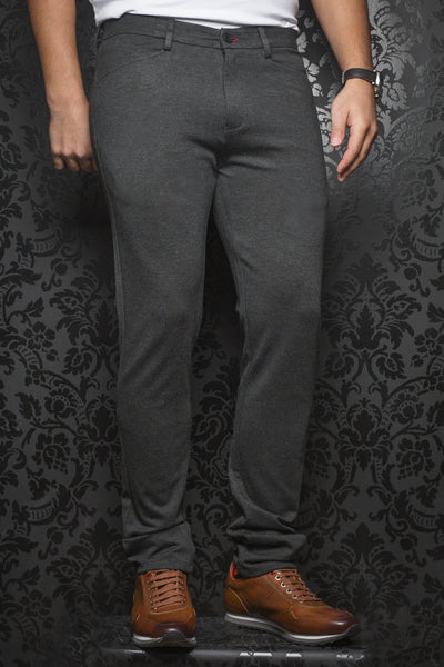 Men Fashion - Au Noir Dressy Stretch Pant - Magnum Charchoal