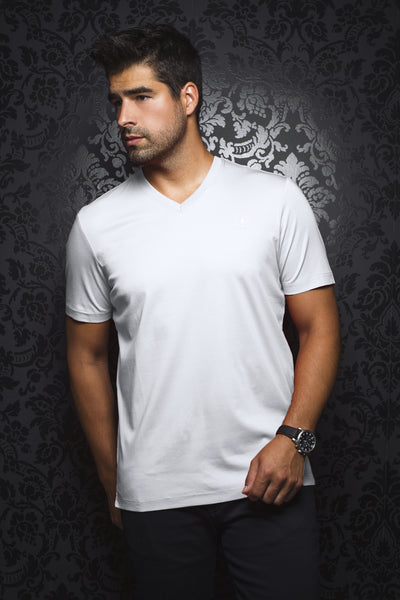 Men Fashion - Au Noir T-Shirt V-Neck - Michael White