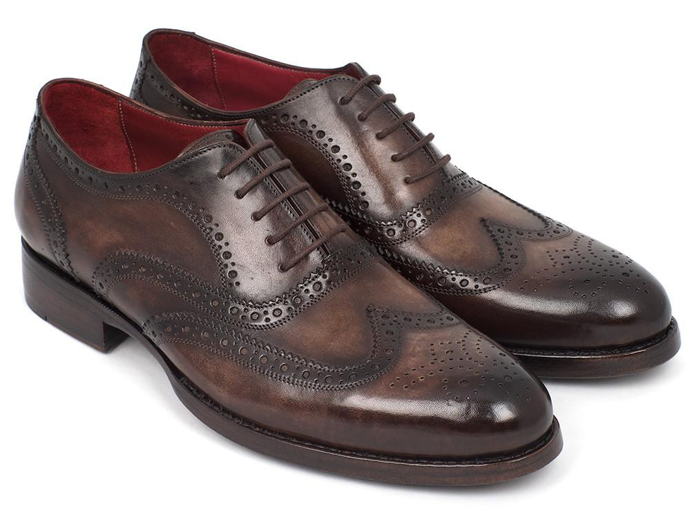 Men Fashion - Paul Parkman Wingtip Oxfords Goodyear Welted Brown