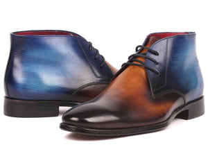Paul Parkman Men's Chukka Boots Brown & Blue (ID#CK67L6)