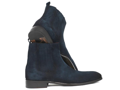 Men Fashion - Paul Parkman Navy Suede Chelsea Boots
