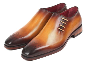 Paul Parkman Side Lace Oxfords Brown & Camel (ID#927F64)
