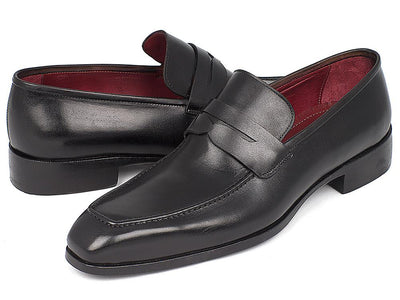 Paul Parkman Men's Penny Loafer Black Calfskin (ID#10BLK29)
