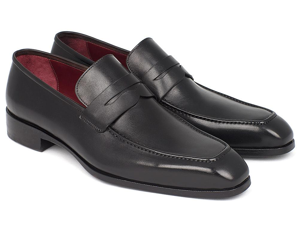 Paul Parkman Men's Penny Loafer Black Calfskin