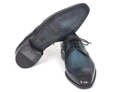 Men Fashion - Paul Parkman Men's Navy & Blue Medallion Toe Derby Shoes