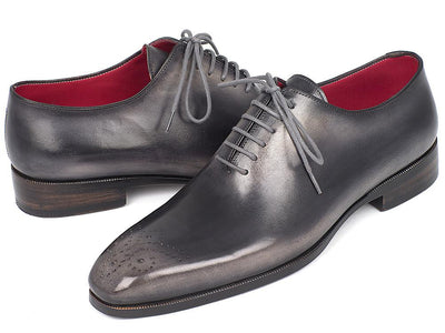Men Fashion - Paul Parkman Men's Gray & Black Wholecut Oxfords