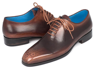 Men Fashion - Paul Parkman Men's Camel & Brown Wholecut Oxfords