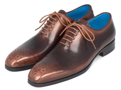 Paul Parkman Men's Camel & Brown Wholecut Oxfords (ID#KR254CML)