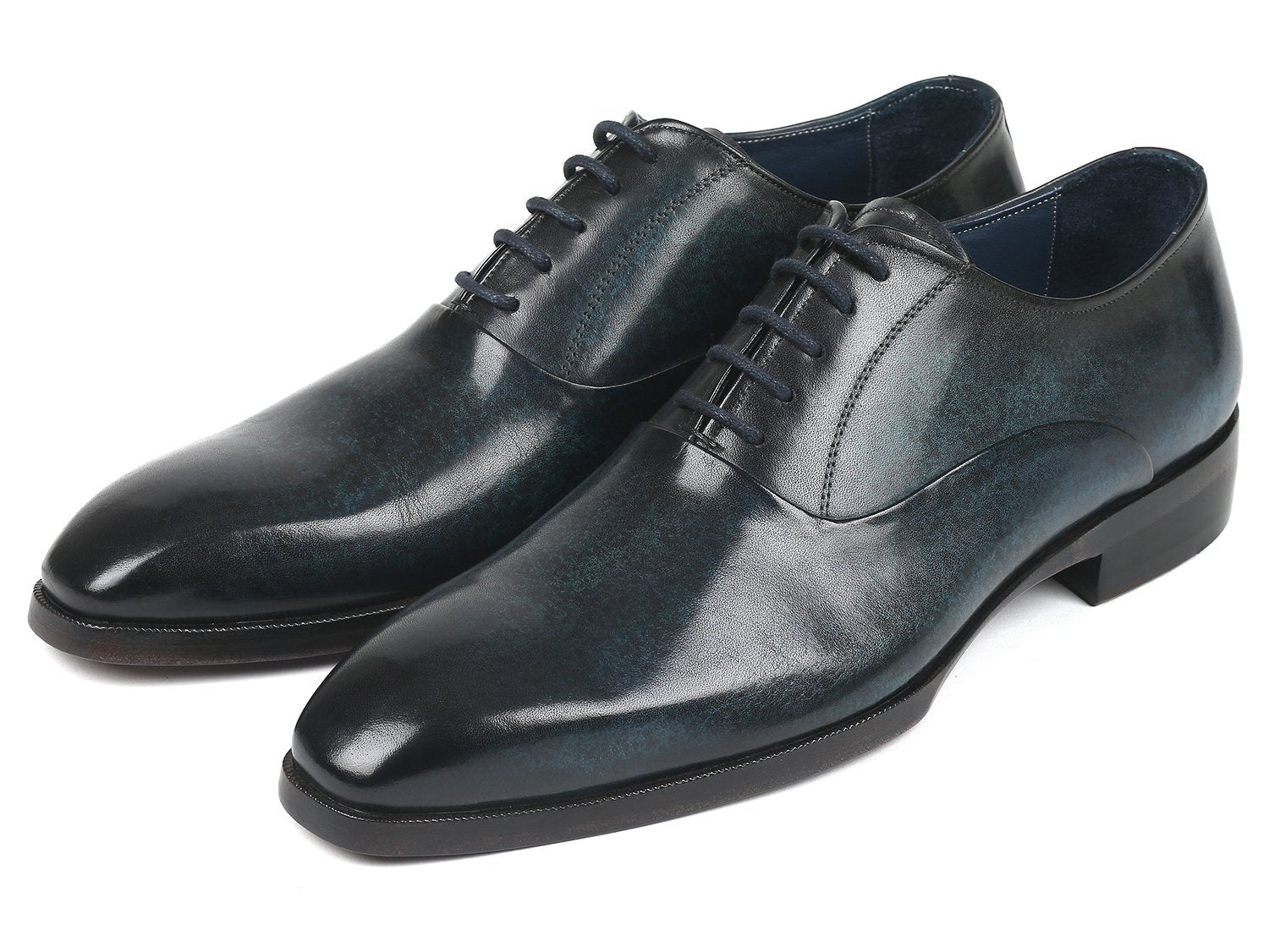 Paul Parkman Men's Plain Toe Oxfords Navy (ID#5523-NVY)