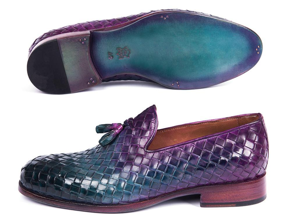 Paul Parkman Woven Leather Tassel Loafers Multicolor (ID#WVN88-MIX)
