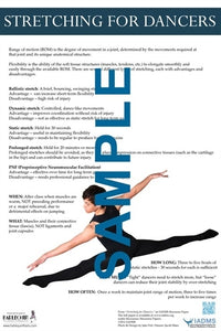Stretching for Dancers Poster