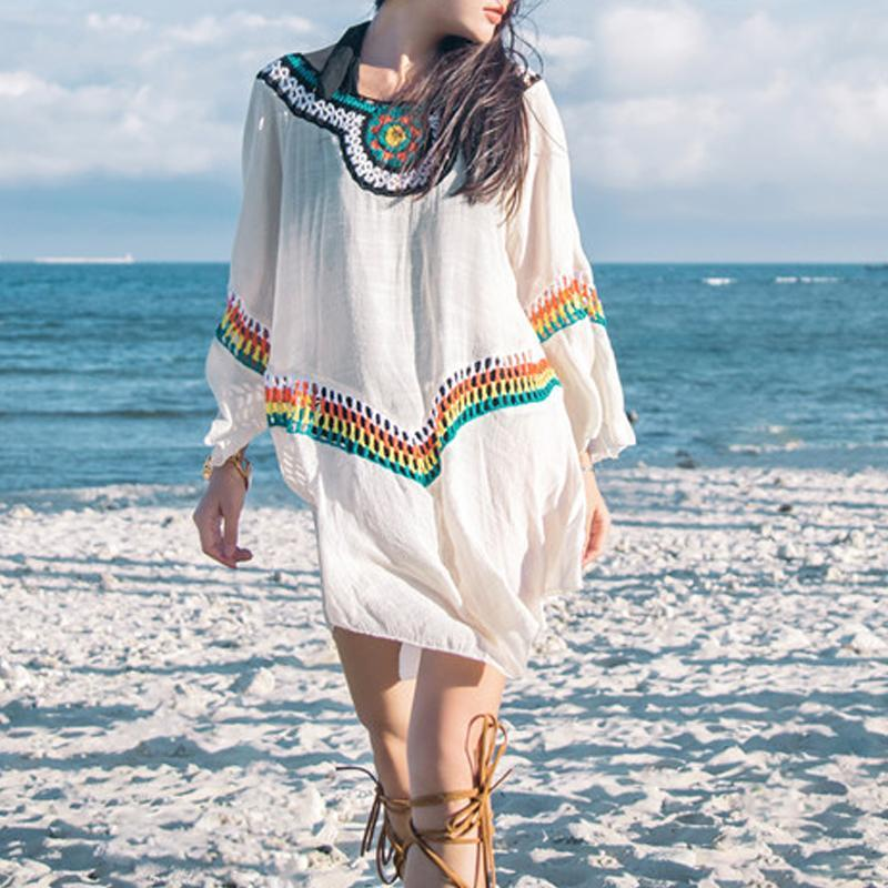 Ethnic Printed Casual Vacation Dress
