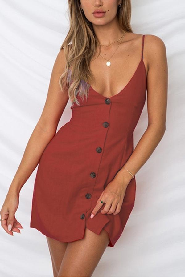 Sexy Sleeveless V Neck Bandage Mini Dress