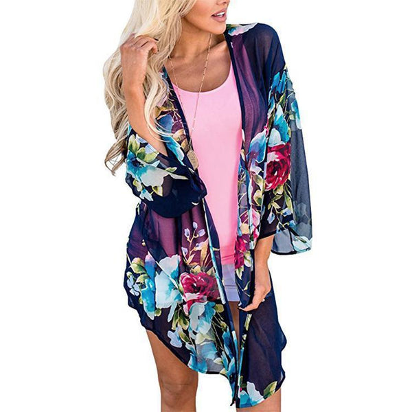 Casual Loose Printing Cardigan Beachwear