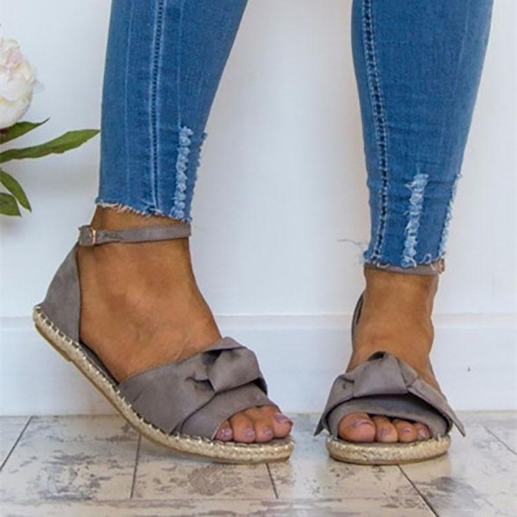 Casual Bow-Knot Hemp Rope Sandals